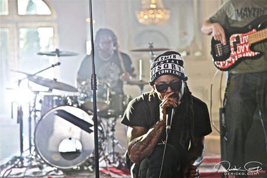 Pictures Of Behind The Scenes Of Lil Waynes On Fire Music Video