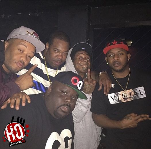 Lil Wayne Gets A Cup Of Liquor Thrown At Him By Birdman & His Crew During Performance At LIV