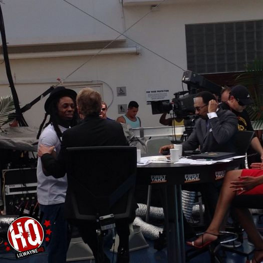 Lil Wayne Appears On First Take In Miami, Calls Skip Bayless A Despicable Monster