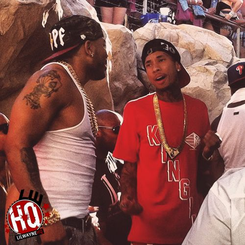 Tyga, Nelly & Problem Look