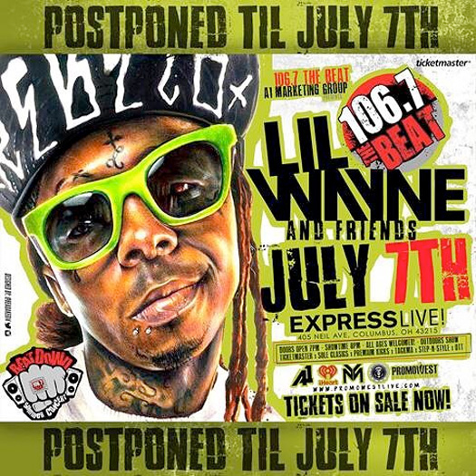 106.7 The Beat Summer Beatdown Concert With Lil Wayne As The Headliner Has Been Postponed