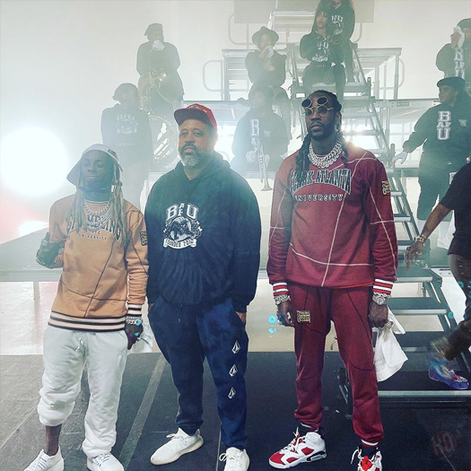 2 Chainz & Lil Wayne Shoot A New Video For Money Maker For 2020 Virtual HBCU Homecoming Performance