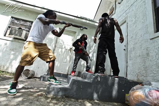 No set de Ace Hood & Lil Wayne Nós Outchea gravação de vídeo