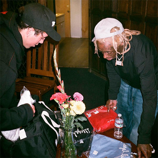 Alex Midler Gifts Lil Wayne With A Package Of Illegal Civilization Clothing