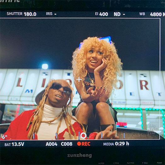 Behind The Scenes Of Foushee & Lil Wayne Gold Fronts Video