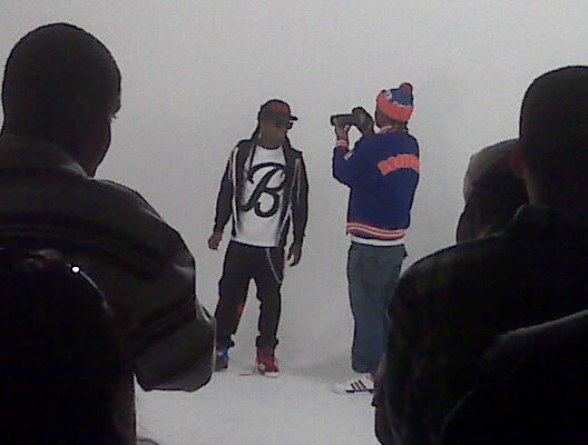 Pictures Of Lil Wayne & Birdman On The Set Of Playaz Circles Big Dawg Music Video