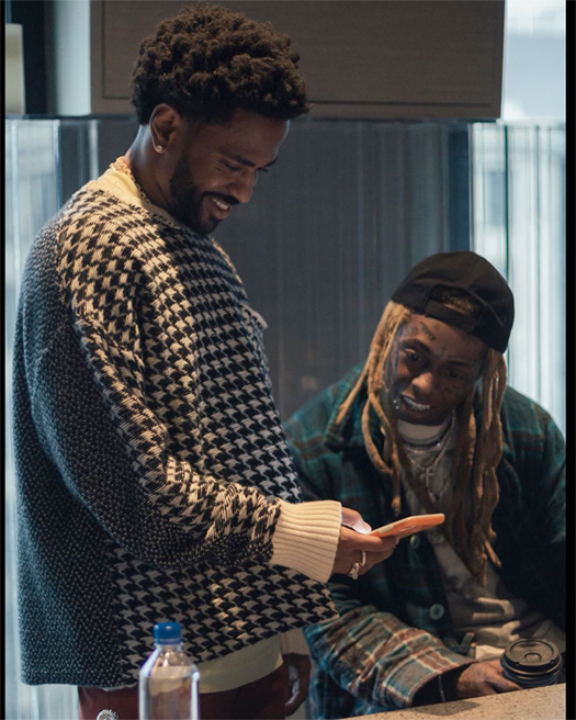 Big Sean & Lil Wayne Hit Up The Studio To Work On New Music