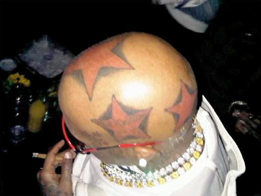 Birdmans 5 Star Tattoo On His Head