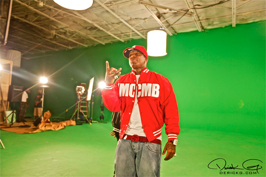 Pictures On Set Of Bow Wow & Lil Waynes Sweat Video Shoot