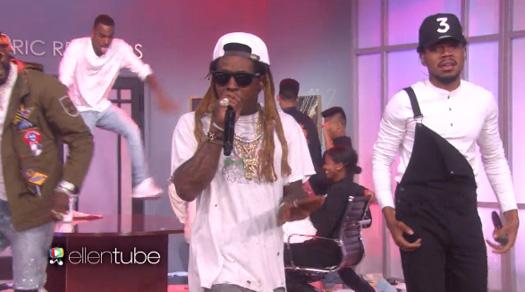 Chance The Rapper, Lil Wayne & 2 Chainz Perform No Problem Live On The Ellen DeGeneres Show