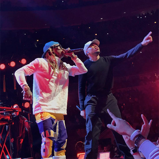 Chance The Rapper & Lil Wayne Perform No Problem Live At NBA All Star Game