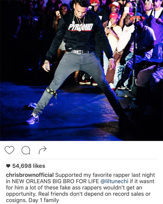 Chris Brown Calls Lil Wayne His Favorite Rapper