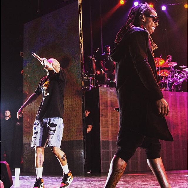 Chris Brown Brings Out Lil Wayne & French Montana In Miami To Perform Loyal Live