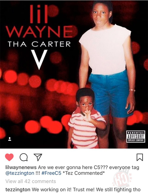 Cortez Bryant Gives An Update On Lil Wayne Tha Carter 5 Album