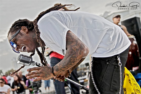 "Tunechi is rocking his ""Listen To Lil Wayne"" t-shirt, and the video was shot"