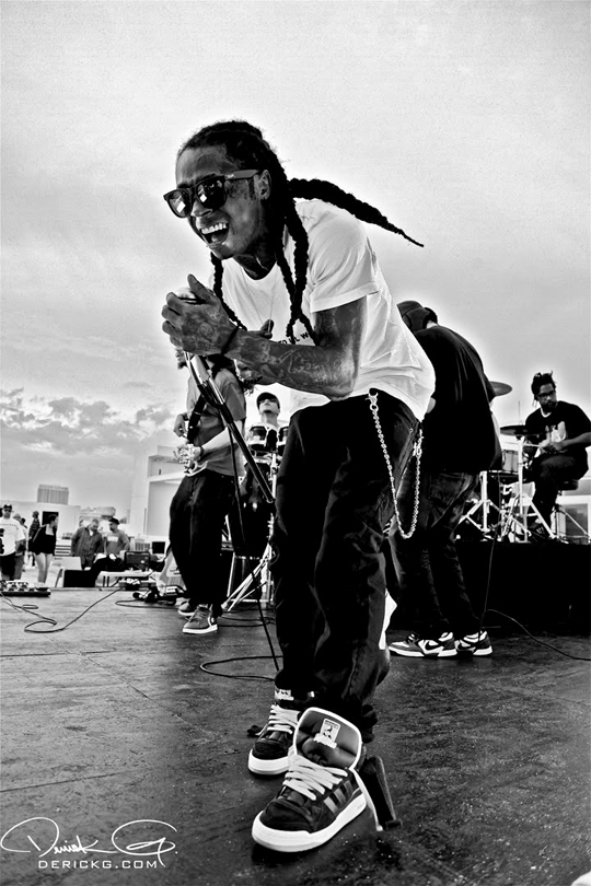 Pictures Of Lil Wayne On The Set For His Da Da Da Music Video
