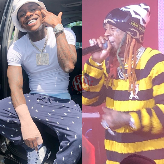 DaBaby Has Lil Wayne Painted On His Studio Wall In His House