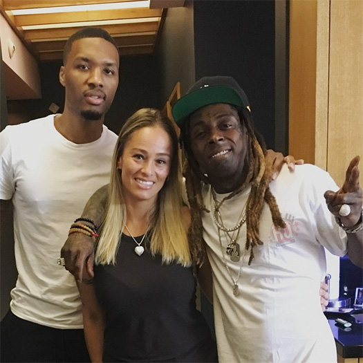 Damian Lillard Talks Being Real Friends With Lil Wayne & First Meeting Him At The Studio With His Wife
