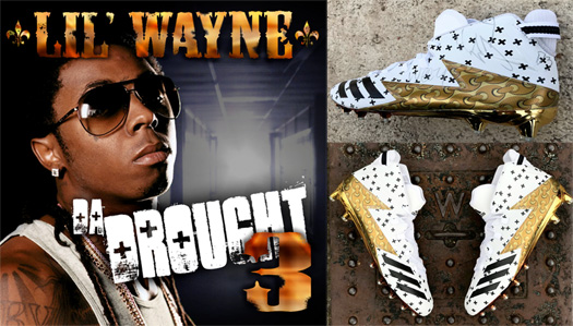 Denver Broncos Linebacker Von Miller Creates A Pair Of Custom Lil Wayne Da Drought 3 Adidas Freaks Cleats