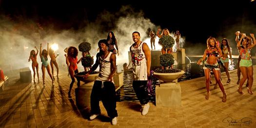 Nos bastidores do DJ Khaled, Lil Wayne, Drake & Rick Ross Sem Amigos Novo Vídeo Atirar