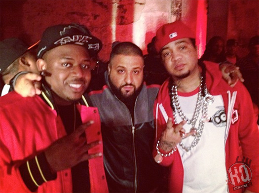 On Set Of DJ Khaled, Lil Wayne, Future, T.I. & Ace Hoods Models & Bottles Video Shoot