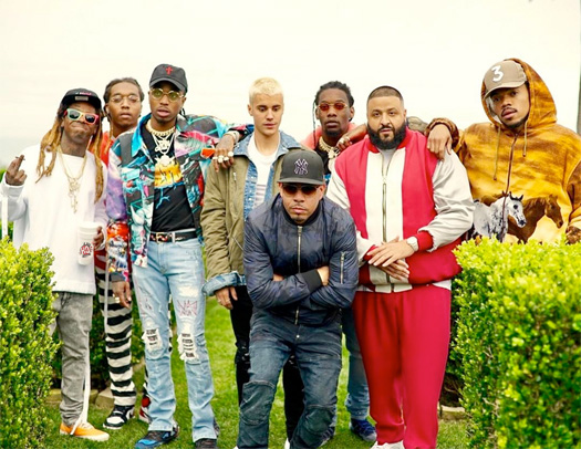 DJ Khaled, Lil Wayne, Justin Bieber, Chance The Rapper & Quavo Shoot A Music Video For Im The One In Malibu