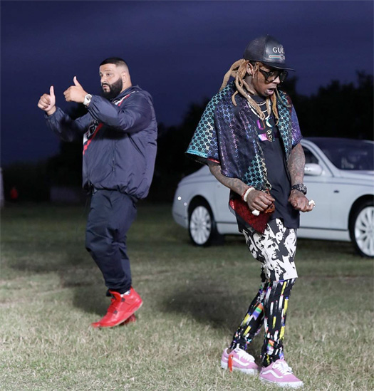 DJ Khaled & Lil Wayne Shoot New Music Video For A Single Off Father Of Asahd