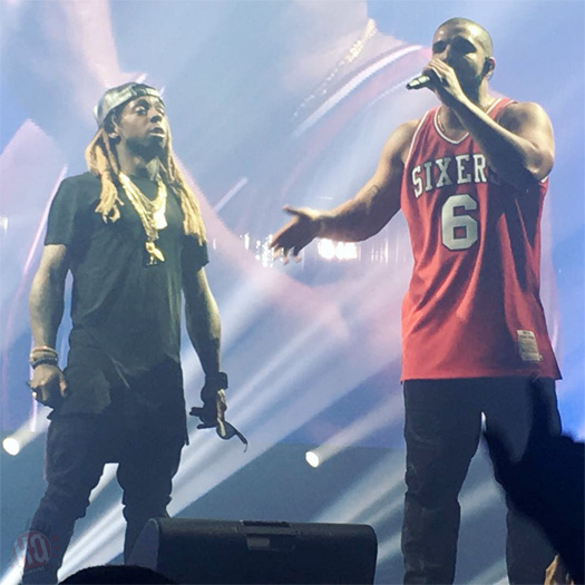 Drake Brings Out Lil Wayne During His Summer Sixteen Tour In Philadelphia, Calls Him The God