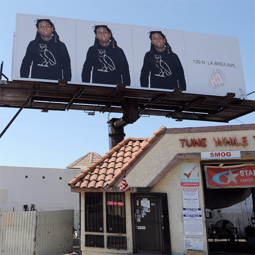 Drake Adds A Lil Wayne Billboard In Los Angeles To Promote His OVO Flagship Store