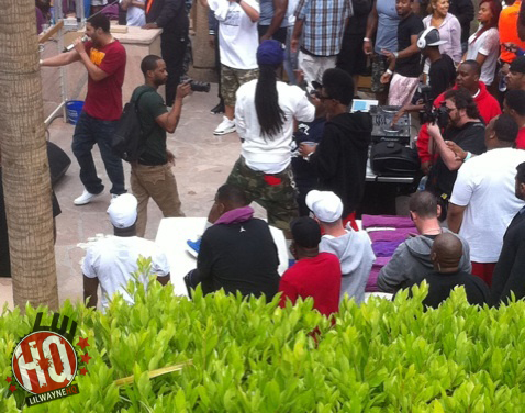 Pictures Of Drake & Lil Wayne At Rehab Pool Party