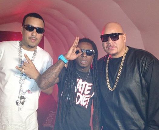 On Set Of Fat Joe, Lil Wayne & French Montana Yellow Tape Video Shoot