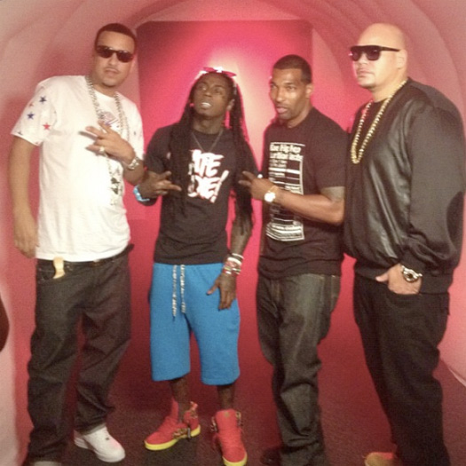 On Set Of Fat Joe, Lil Wayne & French Montana Yellow Tape Video Shoot