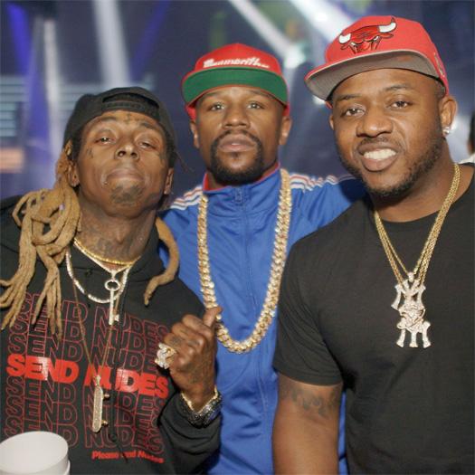 Floyd Mayweather Jams Out To Lil Wayne At LIV Nightclub In Miami