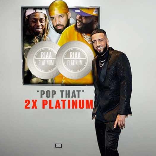 French Montana, Lil Wayne, Drake & Rick Ross Pop That Collaboration Is Now Certified Double Platinum