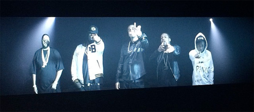 French Montana, Lil Wayne & Rick Ross Shoot A Music Video For Gucci Mane