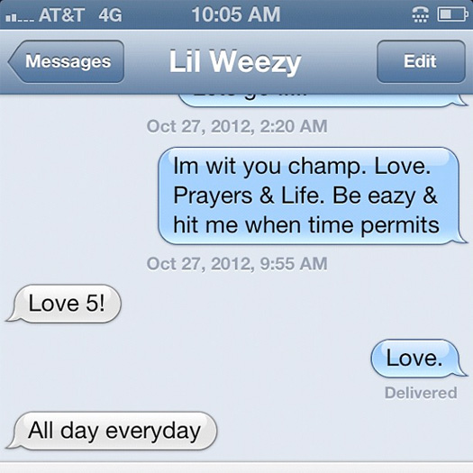 Game Lil Wayne Phone Message