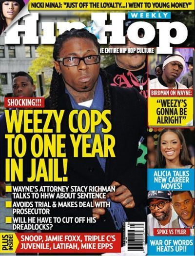 Lil Wayne Makes Front Cover On Hip Hop Weekly Magazine