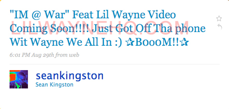 Sean Kingston Im At War Music Video With Lil Wayne