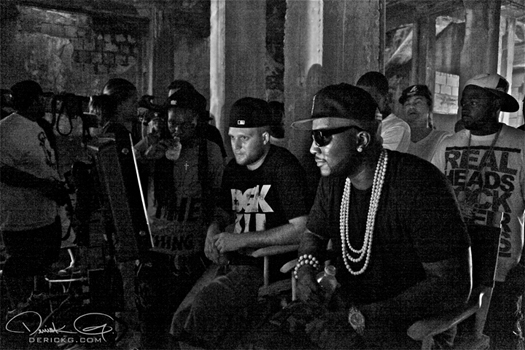 Pictures On Set Of Young Jeezy & Lil Waynes Ballin Video Shoot
