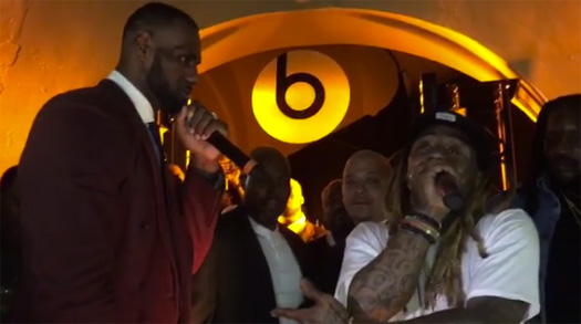 LeBron James Jams Out & Raps Along To Lil Wayne Get High Screw The World Song