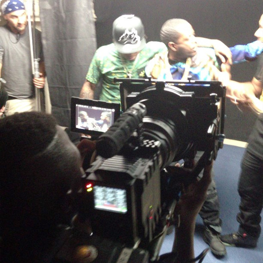 On Set Of LEP Bogus meninos, Lil Wayne & Mase vírgulas Vídeo Atire
