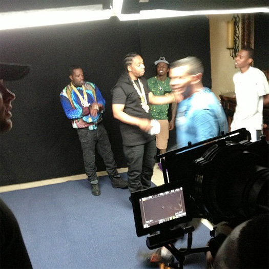 On Set Of LEP Bogus Boys, Lil Wayne & Mase Commas Video Shoot