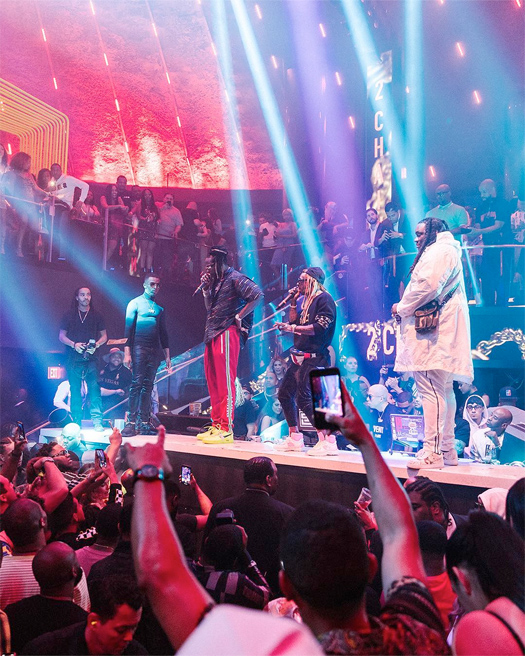 Lil Wayne & 2 Chainz Chill & Perform Live Together At LIV In Miami - Pictures