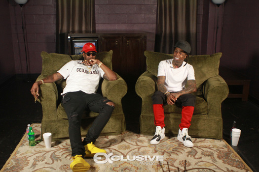 Lil Wayne & 2 Chainz Chilling Backstage At The Tabernacle In Atlanta