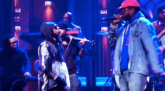 Lil Wayne & 2 Chainz Debut Rolls Royce Weather Everyday Live On NBC Tonight Show