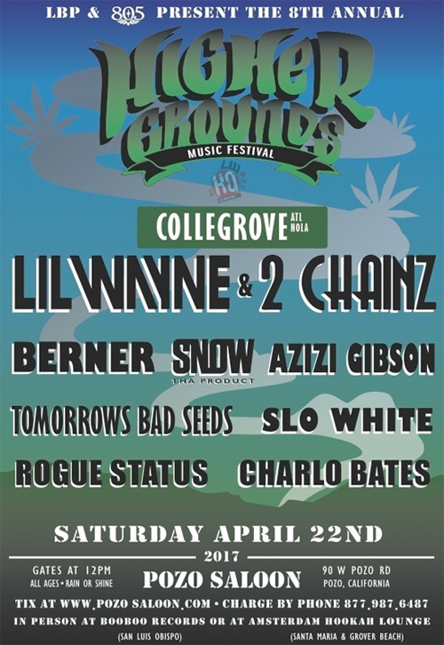 Lil Wayne & 2 Chainz To Headline The 2017 Higher Grounds Music Festival In California