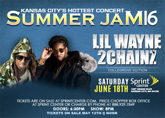 Lil Wayne & 2 Chainz To Headline Kansas City Summer Jam 16 Concert