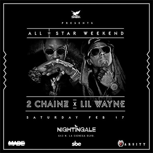 Lil Wayne & 2 Chainz To Host A Show At Nightingale Plaza In Los Angeles During 2018 NBA All Star Weekend
