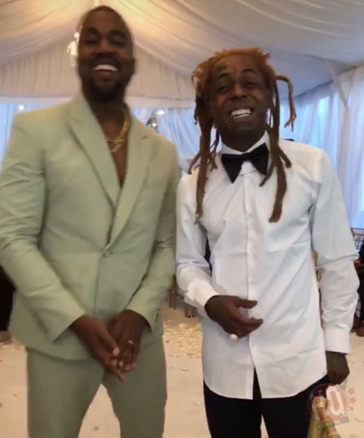 Lil Wayne Attends 2 Chainz & Kesha Ward's Wedding In Miami