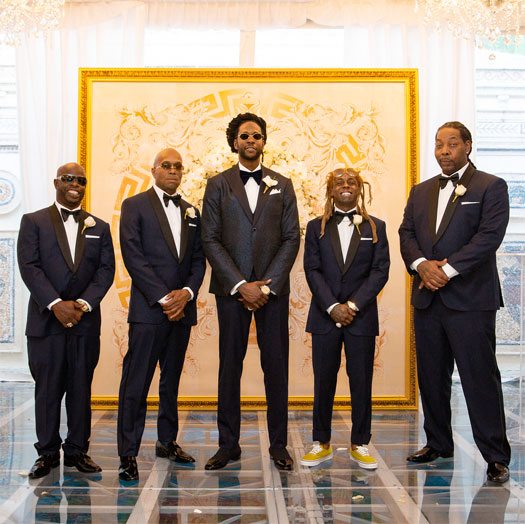 More Pictures Of Lil Wayne & Dolla Boy At 2 Chainz & Kesha Ward Wedding